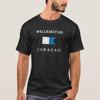 Willemstad Curacao Alpha Dive Flag T-Shirt