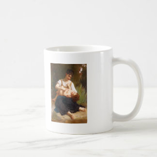 William-Adolphe Bouguereau-Adolphus Child And Teen Classic White Coffee Mug