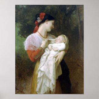 William-Adolphe Bouguereau-Maternal Admiration Poster