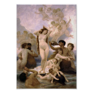 William-Adolphe Bouguereau-The Birth of Venus Poster