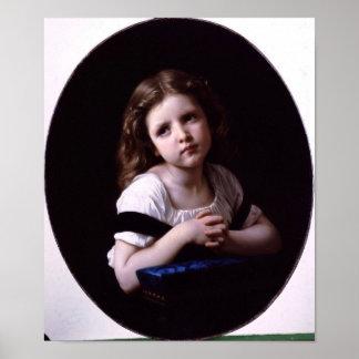 William-Adolphe Bouguereau-The Prayer Poster