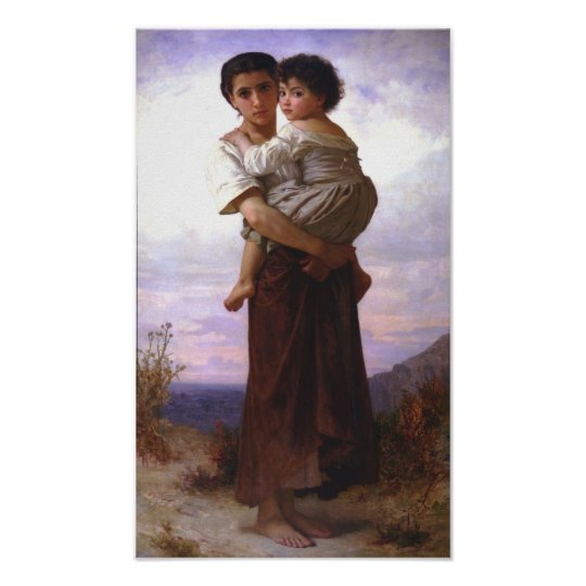 William-Adolphe Bouguereau-Young Gypsies Poster