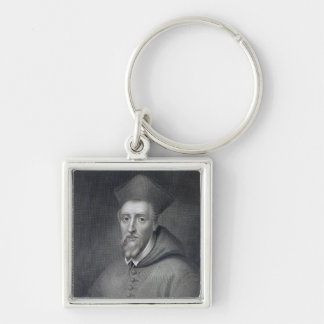 William Allen , engraved by J.Cochran Silver-Colored Square Key Ring