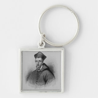 William Allen  from 'Lodge's British Silver-Colored Square Key Ring