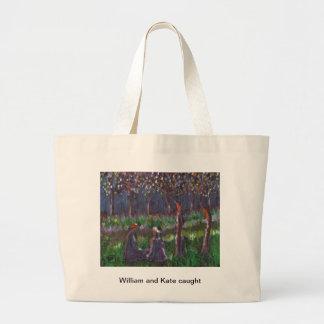William and Kate Caught Jumbo Tote Bag