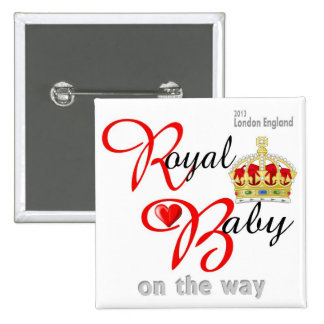 William and Kate Royal Baby on the way 15 Cm Square Badge