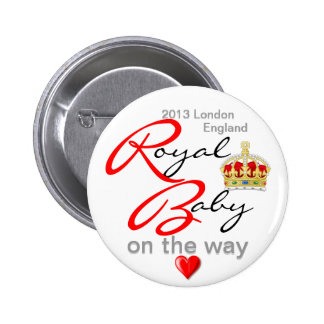 William and Kate Royal Baby on the way 6 Cm Round Badge