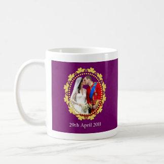 William and Kate Royal Wedding Kiss Basic White Mug