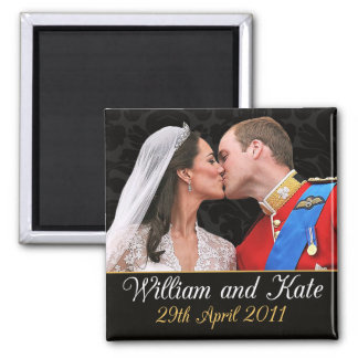 William and Kate the Royal Wedding Kiss Fridge Magnets
