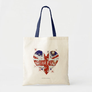 William and Kate UK flag Tote Bag