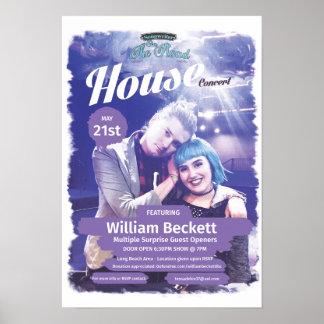William Beckett House Concert Poster