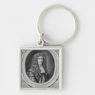 William Bedloe Silver-Colored Square Key Ring