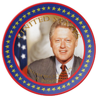 william bill j clinton 42nd President Plate
