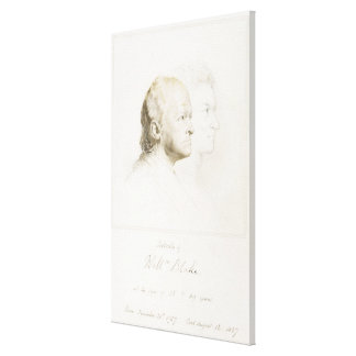 William Blake (1757-1827) in Youth and Age (graphi Canvas Print