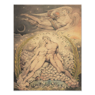 "William Blake 1808 ""Satan Watching Adam and Eve"" Photographic Print"