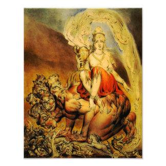 "William Blake 1809 ""Babylon"" Print Photograph"