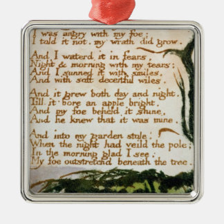 William Blake | A Poison Tree Christmas Ornament