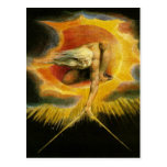 William Blake Art God Postcard