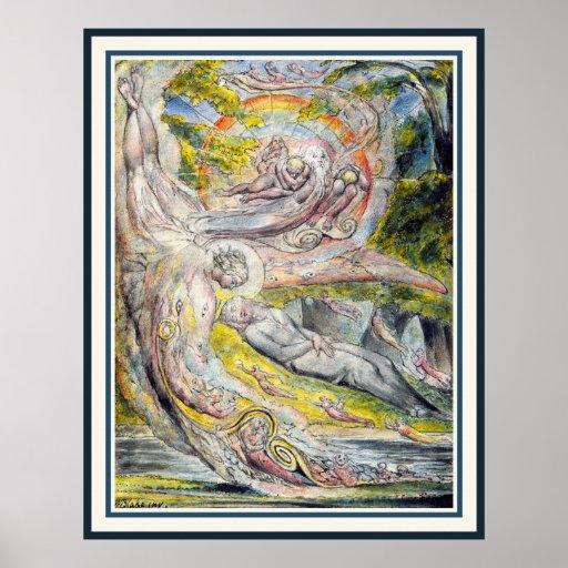 William Blake Art: Milton's Mysterious Dream Poster