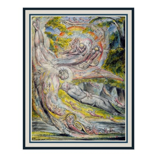 William Blake Art: Milton's Mysterious Dream Poster