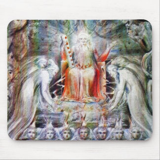 William Blake: Before the Divine Throne Mouse Mat