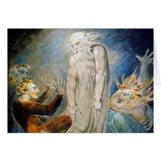 William Blake Card: Milton's Mysterious Dream Greeting Card