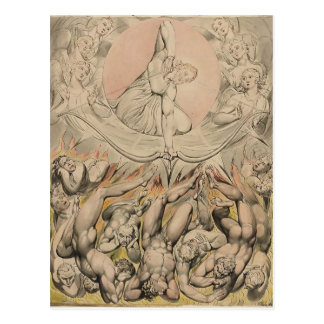 William Blake: Casting of Rebel Angels to Hell Post Cards