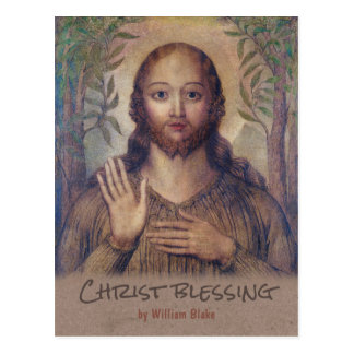William Blake Christ blessing The saviour CC0071 Postcard