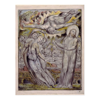 William Blake-Christ refusing the banquet by Satan Postcard