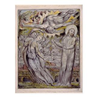 William Blake-Christ refusing the banquet by Satan Post Card