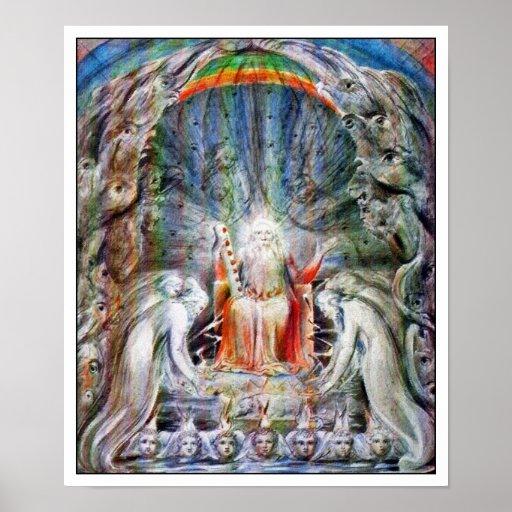 William Blake: Elders Casting their Crowns.... Poster