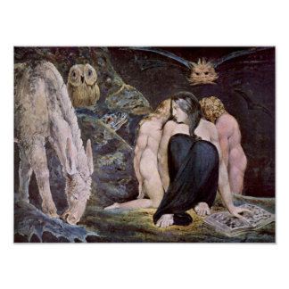 William Blake - Hecate; Night of Enitharmon's Joy Poster