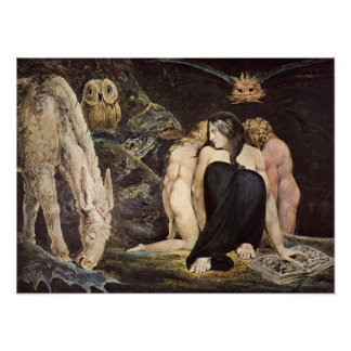 William Blake Hecate Poster