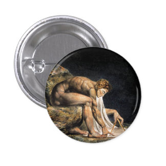 William Blake Isaac Newton Button