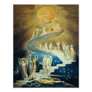 "William Blake ""Jacob's Ladder"" 1799 Print Photograph"