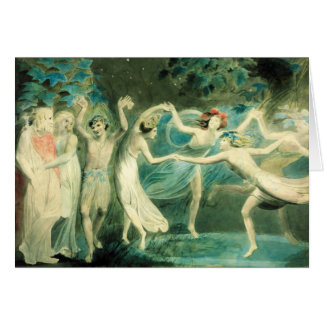 William Blake Midsummer Night's Dream Note Card