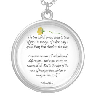 William Blake Poem Pendant