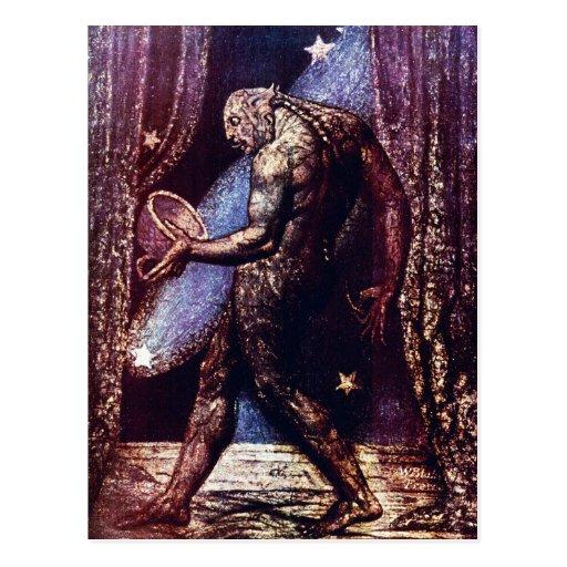 William Blake Postcard:  Ghost of A Flea