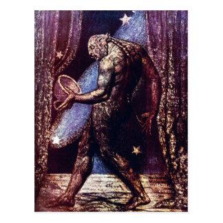 William Blake Postcard:  Ghost of A Flea Postcard