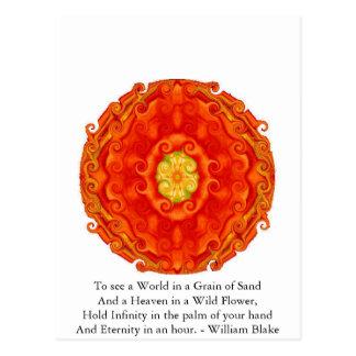 William Blake Quote Postcard