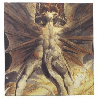 William Blake Red Dragon Napkins