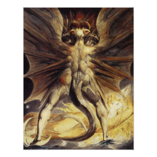 William Blake Red Dragon Poster