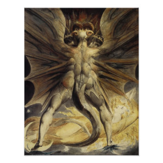 William Blake - The Great Red Dragon and the Woman Poster