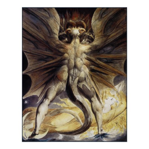 William Blake: The Great Red Dragon Poster