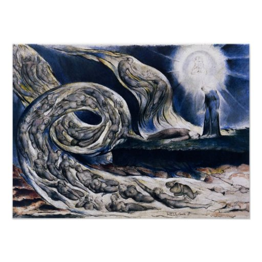 William Blake The Lovers Whirlwind Poster
