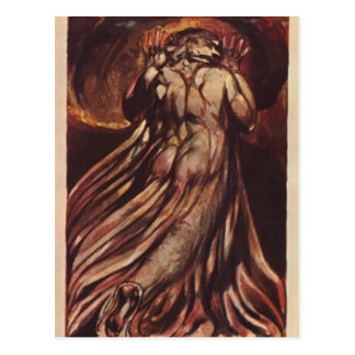 William Blake-white haired man in long, pale robe Postcard