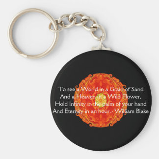 "William Blake ""World in a Grain of Sand"" quote Key Ring"