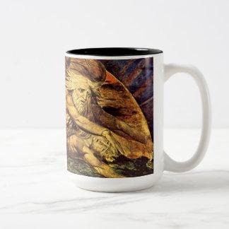 William Blake's Creation of Man (detail) Two-Tone Mug