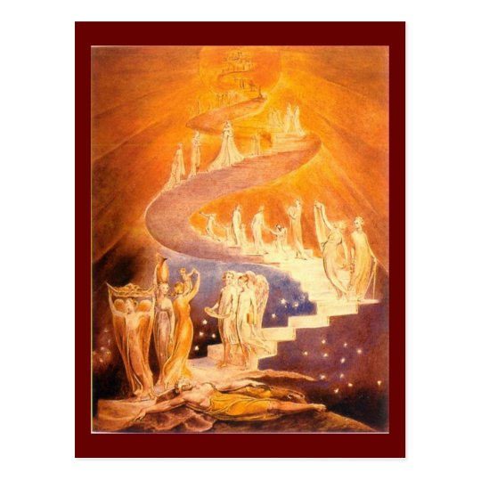 William Blake's Jacob's Ladder Postcard