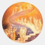 William Blake's Jacob's Ladder Classic Round Sticker